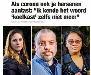 """IN HET NIEUWS   Als corona ook je hersenen aantast: """"Ik kende het woord 'koelkast' zelfs niet meer"""" (Nieuwsblad)"""